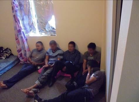13 illegal immigrants where discovered in a home in Calexico