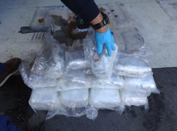 Agents discover The 19 bundles of narcotics valued at $437,544.