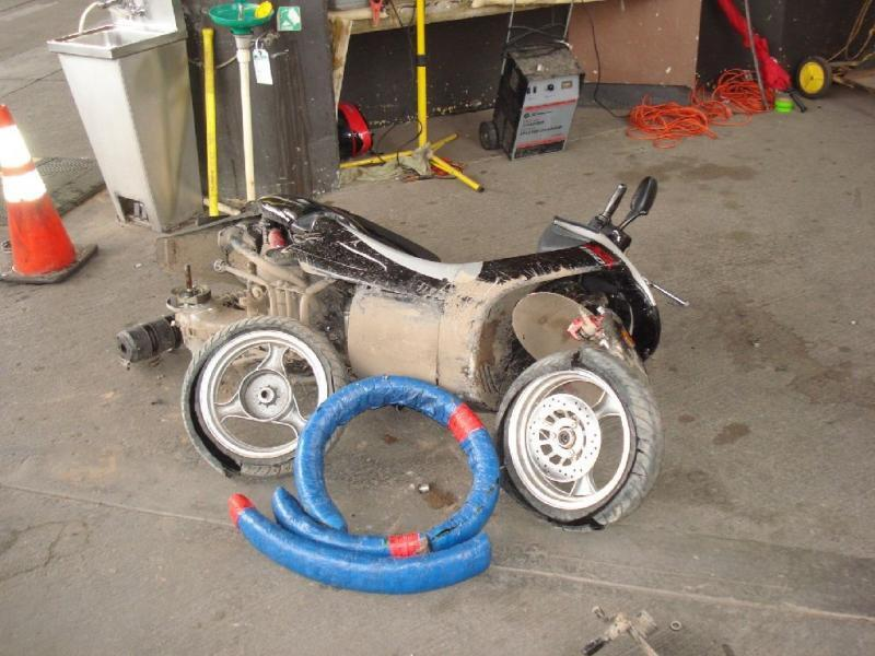 CBP Officers at Calexico find 15 lbs, of marijuana stuffed scooter motorcycle