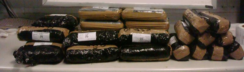 More than 46 lbs. of narcotics were discovered in SUV by San Diego Border Patrol agents.
