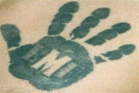 "An example of a ""La Eme"" tattoo"