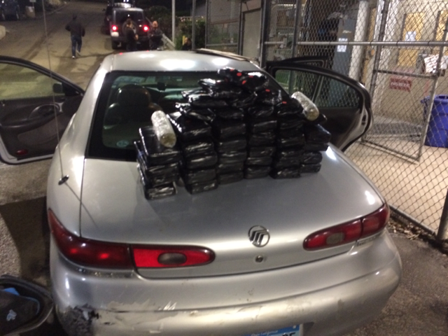 U.S. Border Patrol agents seized a variety of narcotics from a vehicle