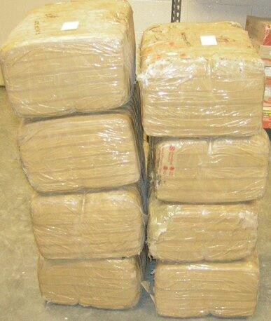 Agents seize 267 pounds of marijuana; arrest six men.