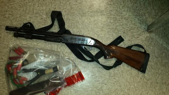 loaded shotgun seized from Mexican man arrest at the El Cajon Border Patrol Station