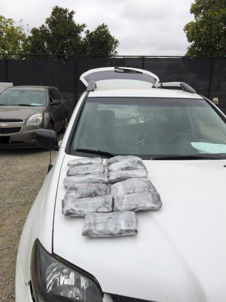 agents in San Diego Sector had already discovered 55 pounds of meth in the same SUV earlier in the week.