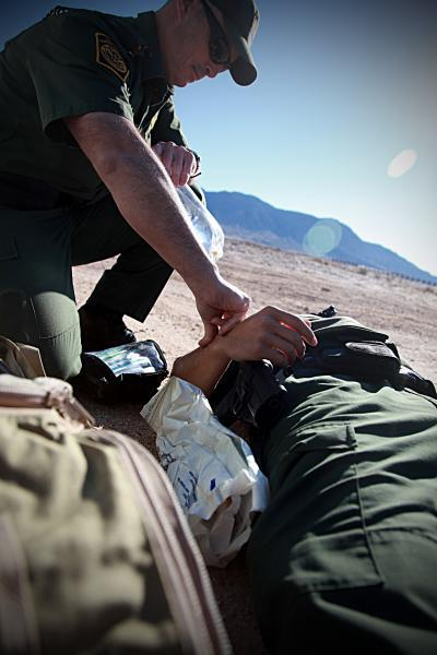 Border Patrol agents are trained first responders and provide medical aid in the Imperial Valley.