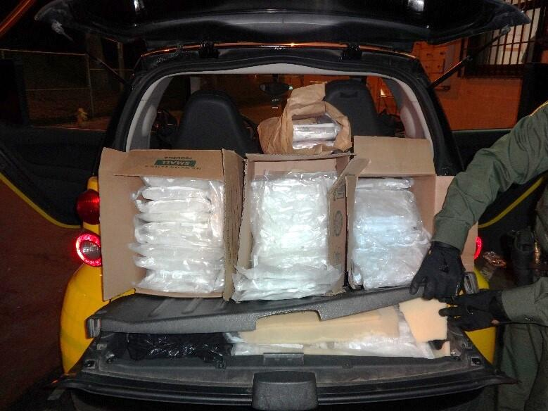 The 75 bundles of methamphetamine are valued at $256,734.
