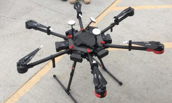 drone suspected of hauling 12 packages of meth.