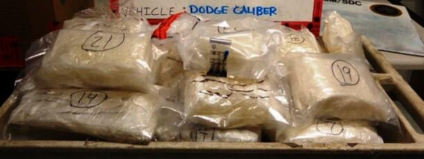 Agents searched and discovered 23 bundles of methamphetamine valued at more than $300K.