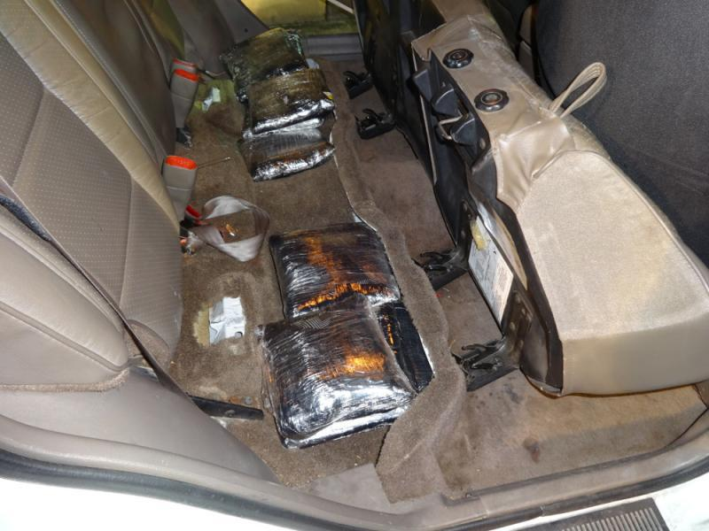 The methamphetamine was hidden under the rear seat of the SUV.