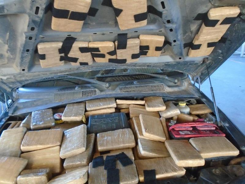 Drug smugglers attempted to hide more than 200 pounds of marijuana throughout a vehicle presented for inspection at the Port of Douglas
