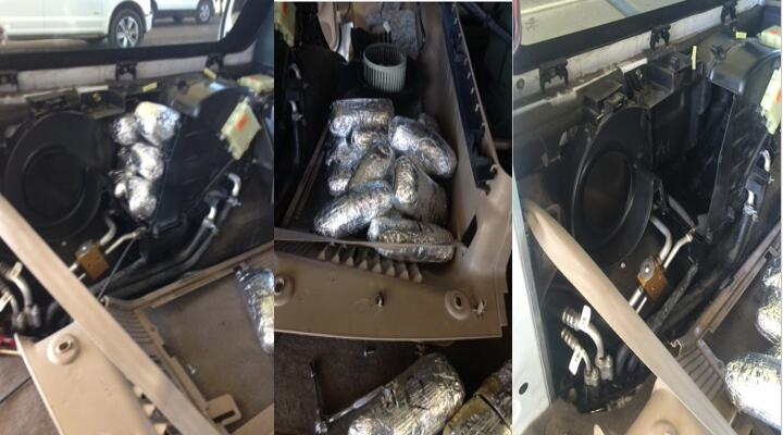 Border Patrol agents at the I-19 traffic checkpoint seized nearly $1M worth of meth from a smuggling vehicle on Jan. 21