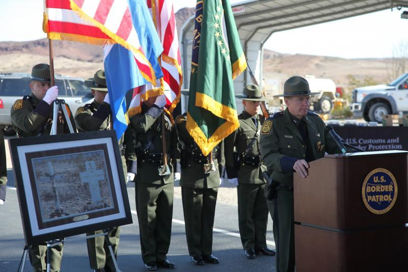 Yuma CPA Porvaznik makes comments at ceremony to remember fallen agent Aurelio Valencia