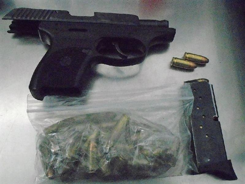 Officers seized a handgun from a subject in connection to a stolen vehicle before it could go into Mexico