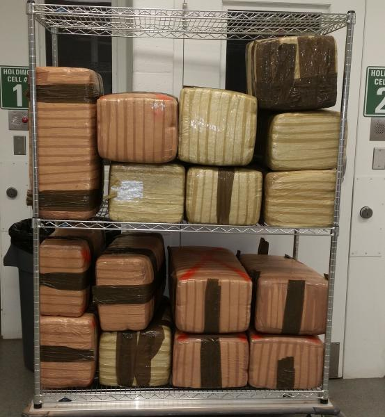 Border Patrol agents in Wellton, Ariz. seized 430 pounds of marijuana on Feb. 4