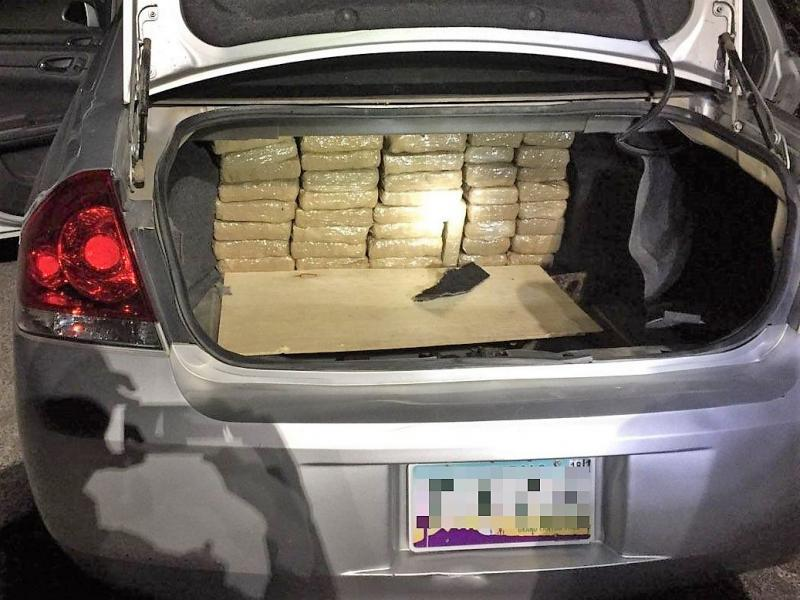 Agents assigned to the SR80 immigration checkpoint seized more than 100 packages of marijuana that was hidden inside of the trunk of a smuggling vehicle