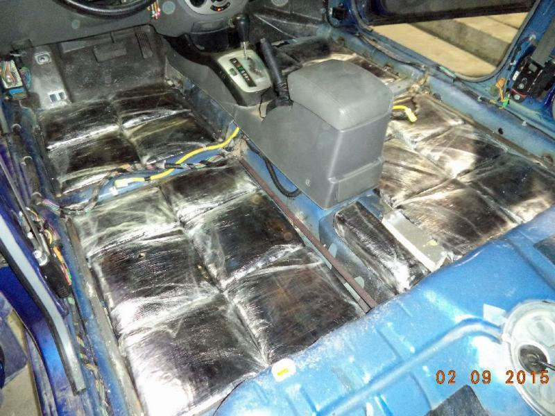 CBP officers at the Port of Douglas discover more than 117 pounds of marijuana in the floorboard and rear quarter panel of a smuggling vehicle