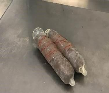 A CBP canine alerted officers to the woman who had concealed two packages of meth within her rectum and buttocks