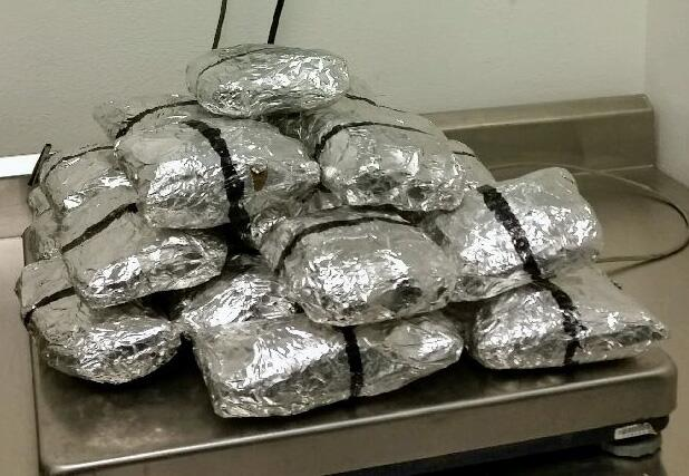 Multiple packages of meth were removed from a smuggling vehicle at the Port of Nogales