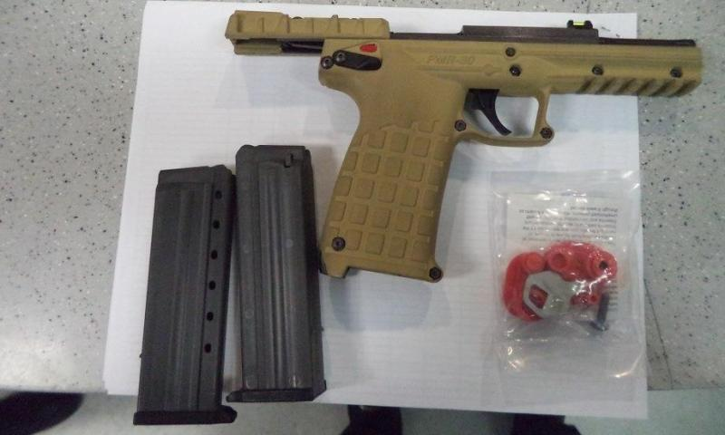 A handgun and ammunition magazine were discovered by CBP officers at the Port of Lukeville