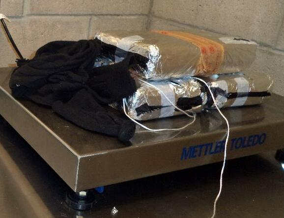CBP officers at the Mariposa crossing removed cocaine packages that were removed from the smuggling vehicle's dashboard.