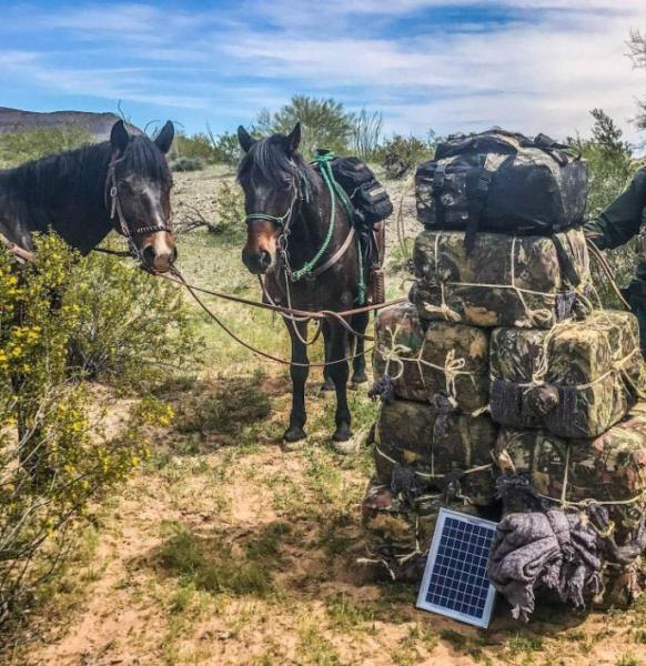 Members of Ajo Station's Horse Patrol Unit seized more than 340 pounds of marijuana abandoned by backpackers