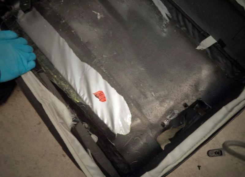 CBP officers discovered packages of heroin within the suitcases of a pedestrian crosser through the Port of Nogales