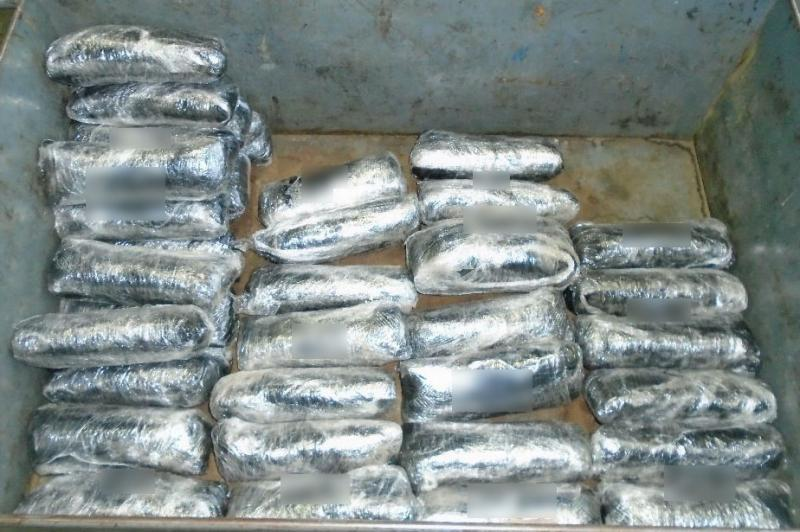 CBP officers from the Port of Nogales seized nearly 40 packages of meth from within a smuggling vehicle