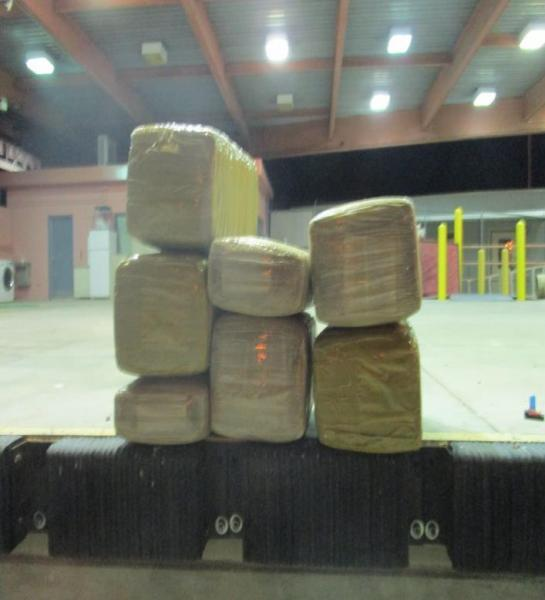 Officers seized 170 pounds of marijuana from a smuggling vehicle