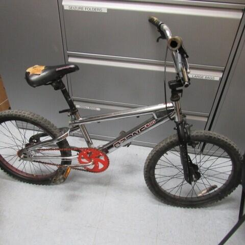 A CBP canine alert led officers to search a border-crossers bicycle