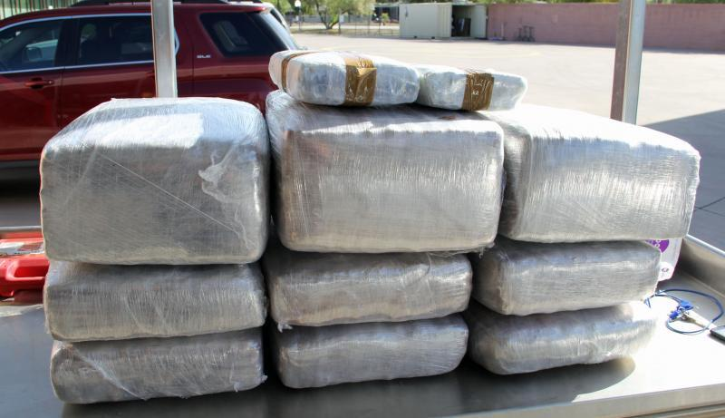 Officers removed 150 pounds of marijuana frm the stow and go area of a smuggling vehicle