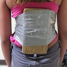 A 12-year-old girl was found to have 2 pounds of cocaine wrapped around her torso