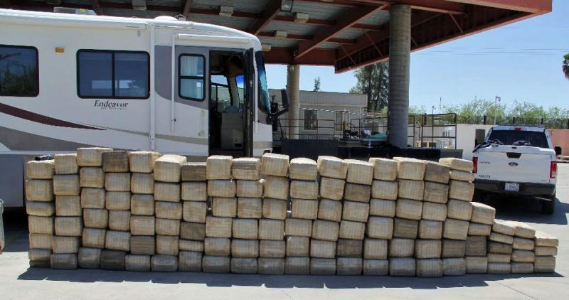 A CBP narcotics detection canine alerted officers to more than 2,600 pounds of marijuana
