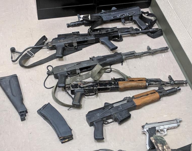 Ajo agents and personnel from Air and Marine Operations in Tucson and Yuma seized multiple weapons when they were arrested this past Saturday