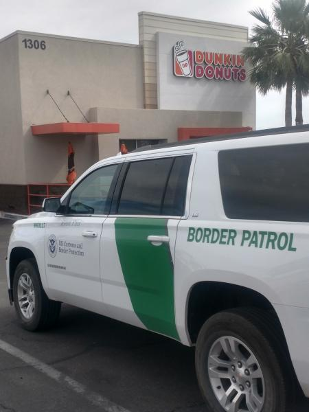 Agents are scheduled to be at the local Dunkin' Donuts location, where they hope to answer questions from local residents about Border Patrol