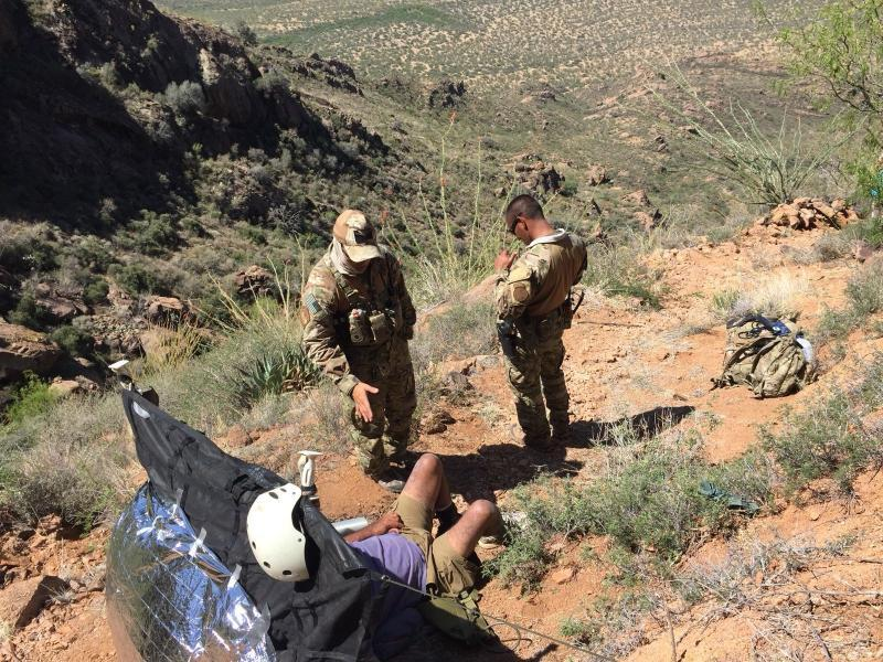 Agents rescued a hiker in the Baboquivari Mountains east of Sells, Arizona on Tuesday night