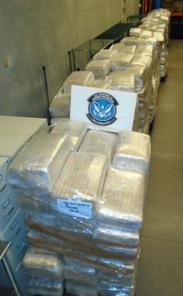 CBP officers at the Mariposa Commercial Facility in Nogales seized more than 14,800 pounds of marijuana that was co-mingled within a watermelon shipment coming into the United States