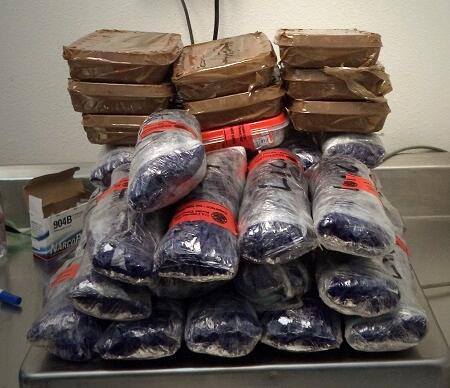 More than $390K worth of cocaine and meth were removed from a smuggling vehicle stopped by officers at the DeConcini crossing