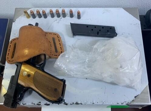Yuma agents alerted by a CBP narcotics detection canine seized meth and a loaded handgun