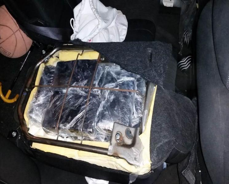 Smugglers hid cocaine inside of the vehicle's seats