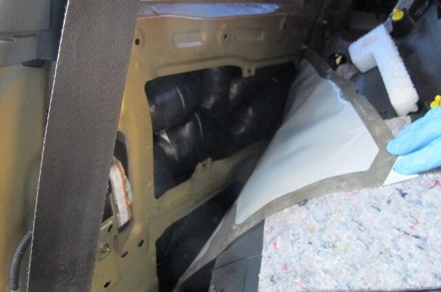 photo of meth hidden inside rear quarter paneling of smuggling vehicle