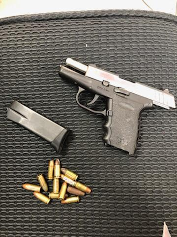 Agents seized a loaded handgun as well as some drugs and paraphernalia