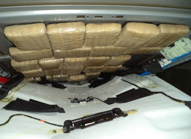 CBP officers at the Port of Douglas seized nearly 151 pounds of marijuana from within a smuggling vehicle