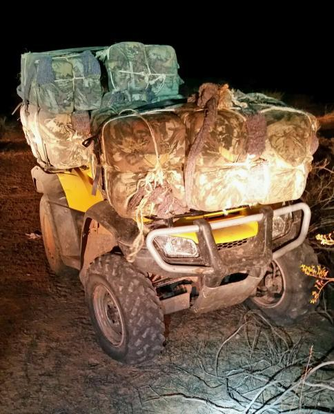 Border Patrol agents assigned to the Yuma Sector seized 430 pounds of marijuana as well as an all-terran vehicle that smugglers used to transport it into the U.S.