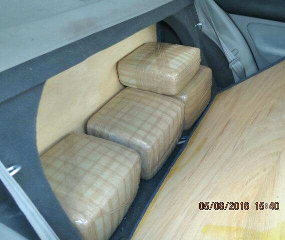 CBP officers at the Port of Lukeville utilized a narcotics detection canine to direct them to the backseats, where they found more than 66 pounds of marijuana
