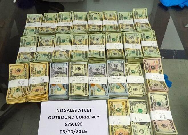 Officers performing outbound inspections seized more than $79,000 in unreported currency before it was taken into Mexico