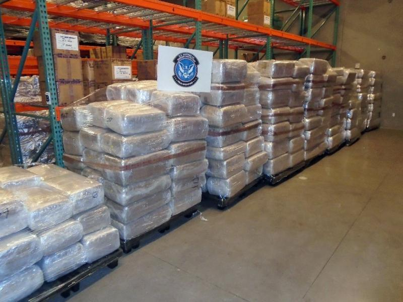 Nearly 9,000 pounds of marijuana were seized by CBP officers at the Maricopa Commercial Facility from a tractor trailer
