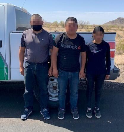 Agents stopped a vehicle with three undocumented migrants inside