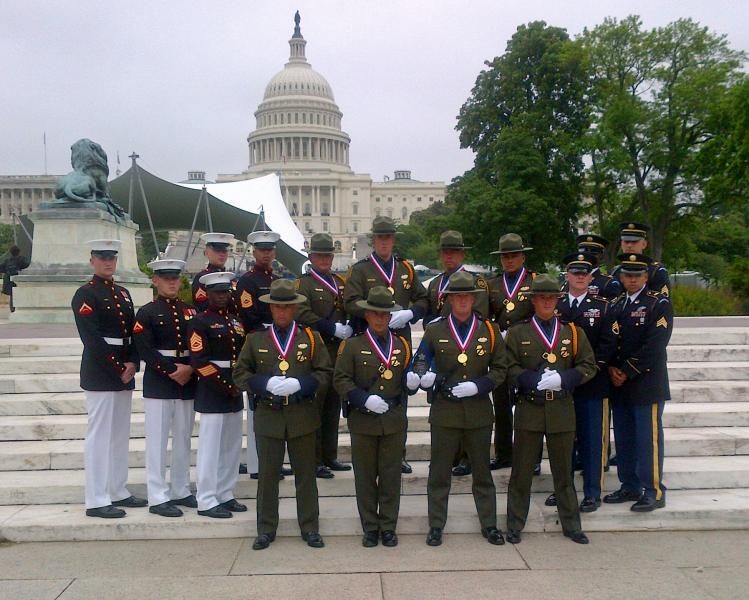 Tucson Sector Honor Guard in front of capitol