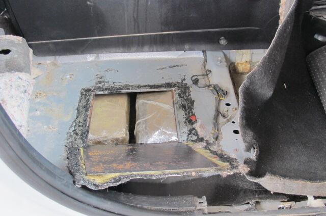 CBP officers at the Port of San Luis located and seized more than 40 pounds of cocaine within a false floor of a smuggling vehicle.